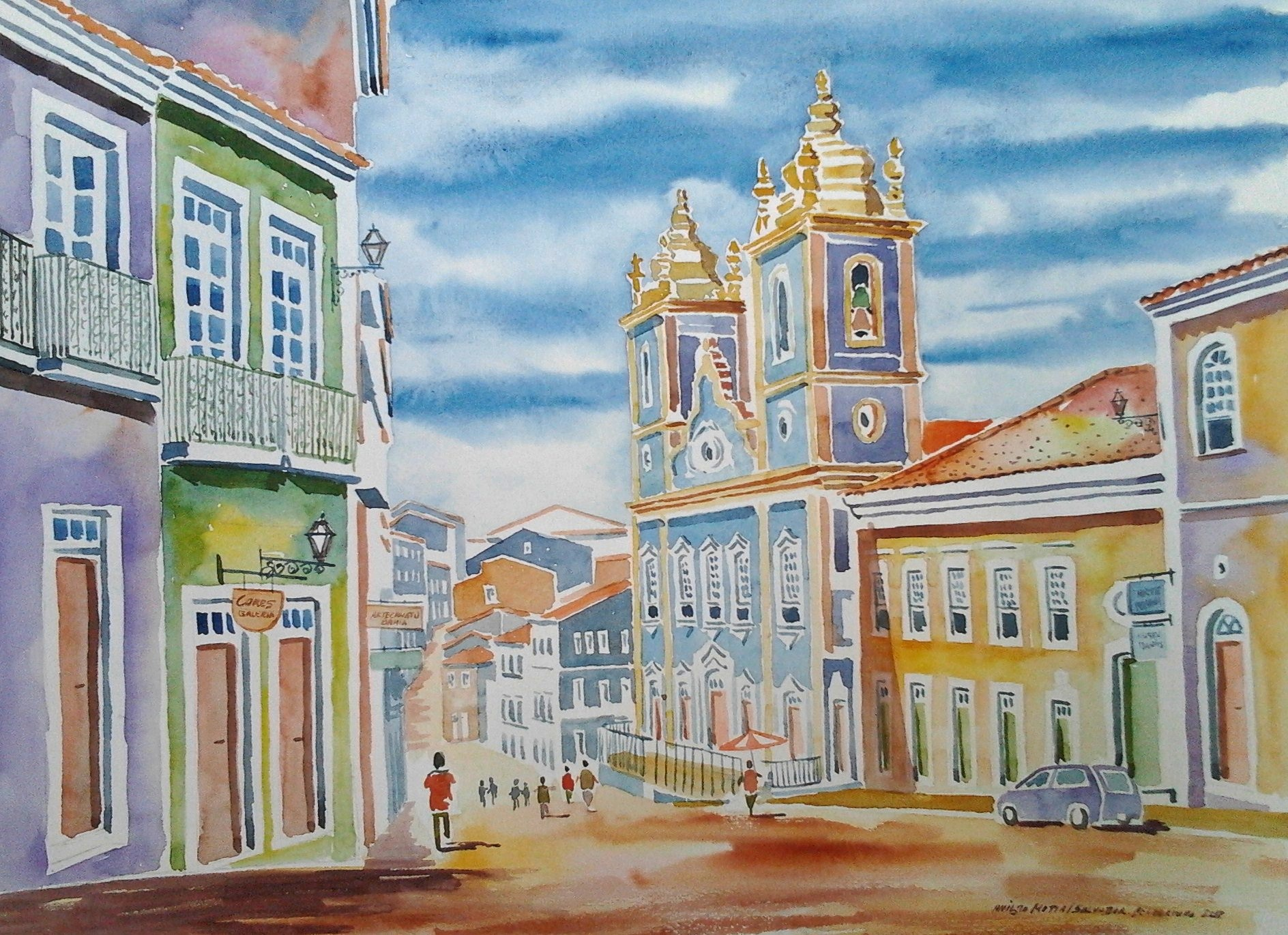 Aquarela do pelourinho