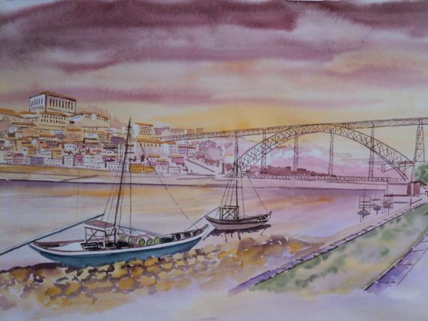 Aquarela do Porto. Portugal