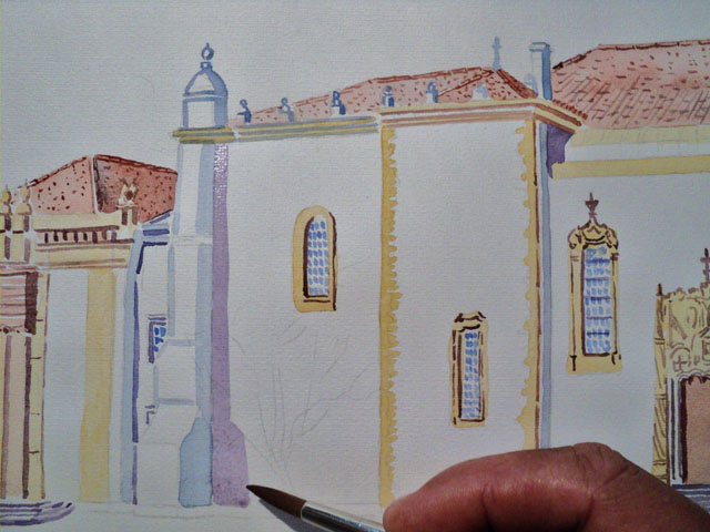 Aquarela Universidade de Coimbra
