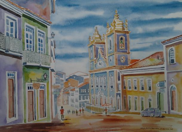 Aquarela do Pelourinho. Salvador Bahia
